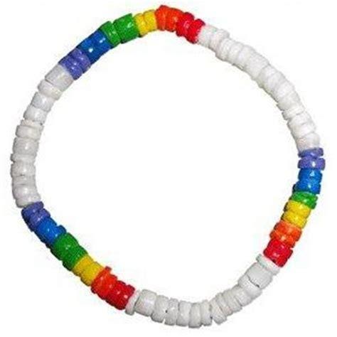 rainbow bead bracelet pride rainbow bracelet anklet coco bead puka shell ebay