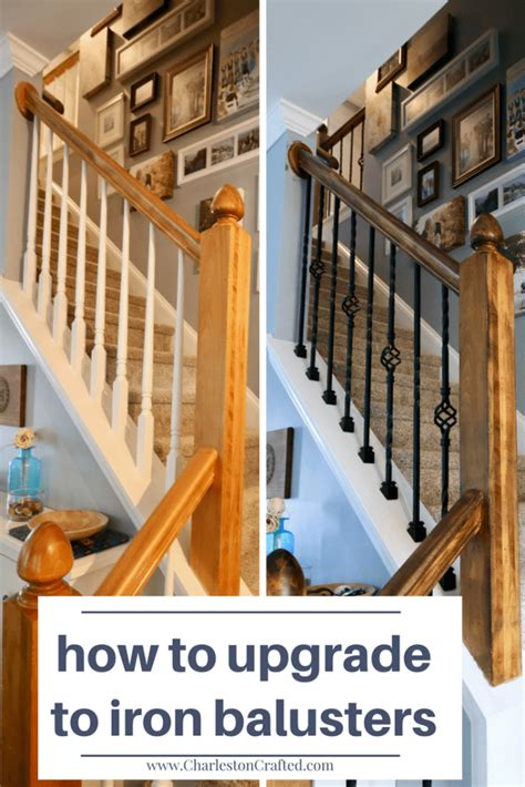 replace wooden balusters  iron  easy