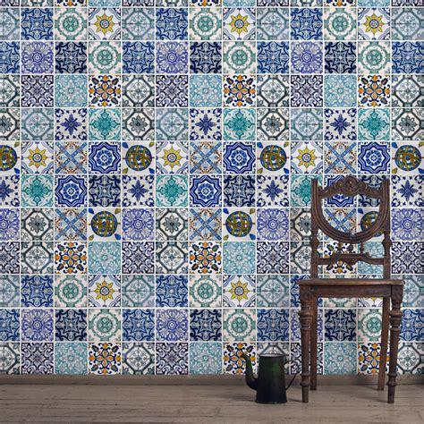 Mosaik Tapete by Mosaic Wallpaper Tiles Wallpapersafari