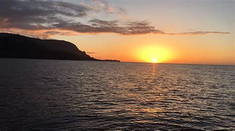 napali coast boat tour sunset na pali coastline kauai boat tours
