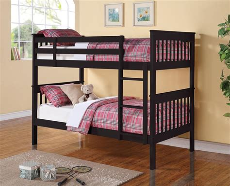 bunk beds twin nala bunk bed black