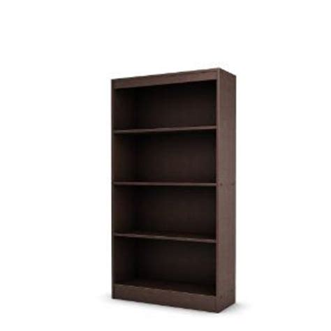 5 inch deep bookcase south shore axess collection 4 shelf bookcase chocolate