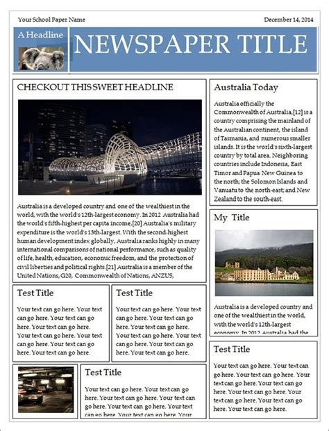 fantastic newspaper template for publisher ideas entry level