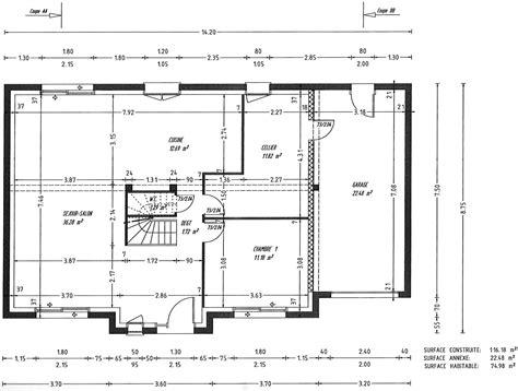 plan maison 100m2 4 chambres maison 4 chambres impressionnant plan de maison de 100m2