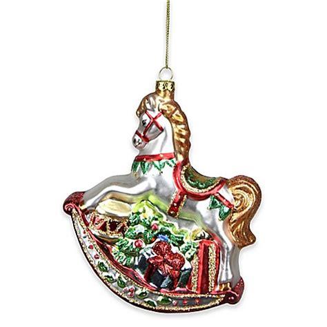 rocking horse glass christmas ornament bed bath beyond