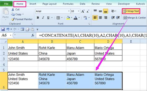 php format date line break how to combine cells with line break carriage return in
