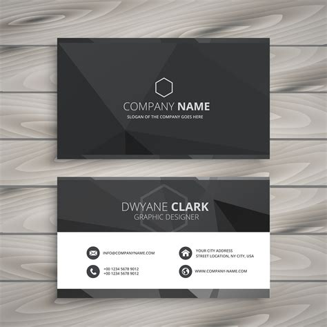 black business card template vector black business card design template vector design