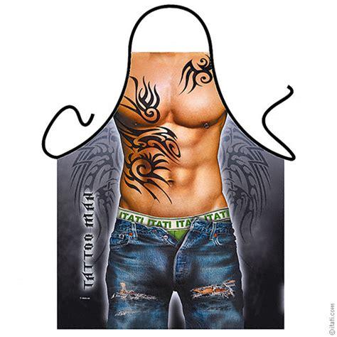 tattoo man apron