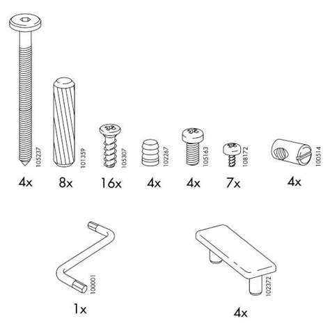 Ikea Bed Frame Screws Ikea Robin Bed Frame Replacement Parts Furnitureparts