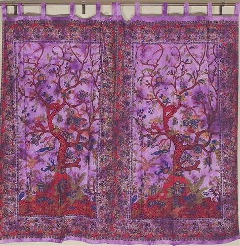 tree of life curtains printed window door curtains tree of life india inspired