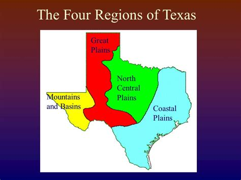 plains of texas map the four regions of texas ppt