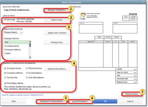 intuit templates use and customize form templates quickbooks learn support