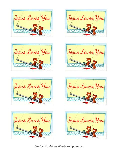 free printable christian message cards jesus loves you