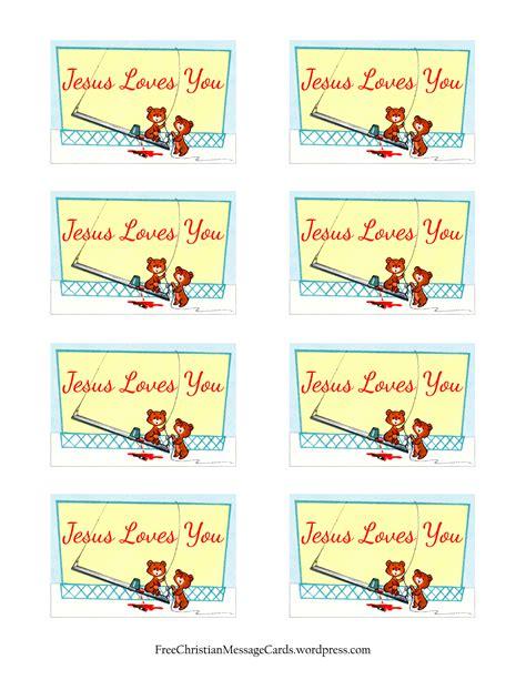 free printable christian message cards jesus you