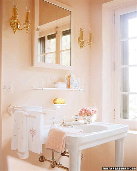 pink and cream bathroom pink rooms martha stewart