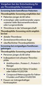 wann sst nach blastozystentransfer nach der thrombose wann ist ein thrombophilie screening
