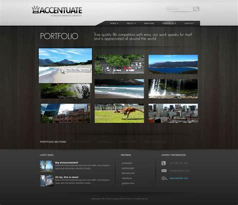 html themes portfolio accentuate premium html theme business portfolio by