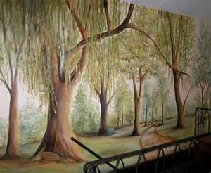 Trees Wall Mural Gallery For Gt How To Paint A Tree Mural On A Wall