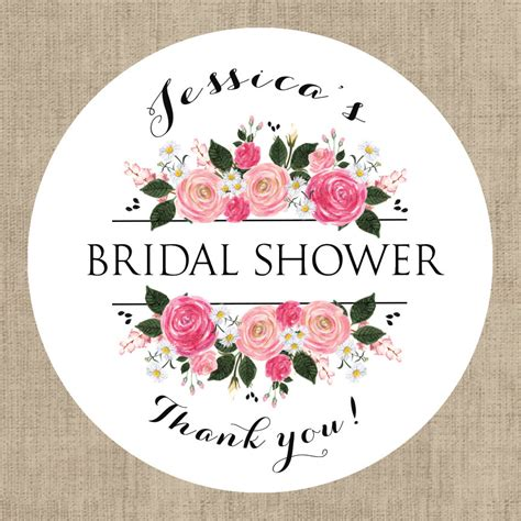 Bridal Shower Tags by Bridal Shower Stickers Custom Bridal Shower Labels