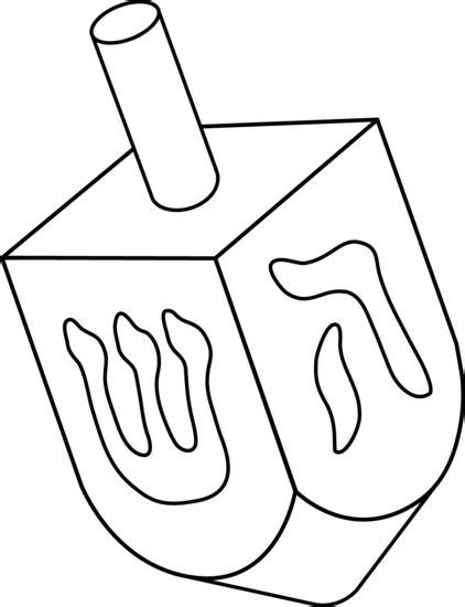 dreidel colorable line art free clip art