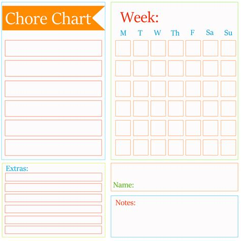 chore chart checklist template page 2 of 2 kleinworth co