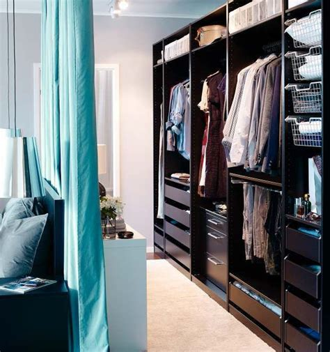 walk in closet curtain open wardrobe ikea love the curtain behind bed diy walk