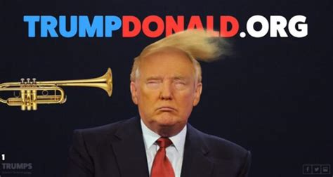 donald trump website you can now blast a trumpet on donald trump s hair ny