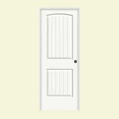 30 X 80 Interior Door Opening by Jeld Wen 30 In X 80 In Molded Smooth 2 Panel Arch Plank