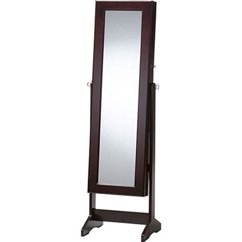 jewelry armoire cheval standing mirror alena jewelry mirror brown free standing cheval mirror