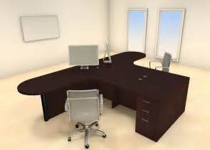 Two Desk Office Two Persons Modern Executive Office Workstation Desk Set Ch Amb S32 Ebay