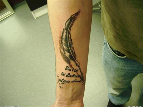 feather pen tattoo the gallery for gt feather pen writing