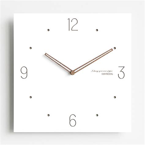 Simple Square by Simple Square White Modern Wooden Kitchen Wall Clocks