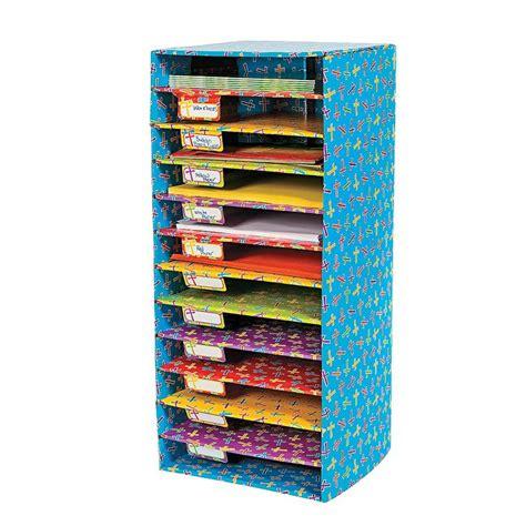 paper sorter shelves cross pattern classroom sorter paper organizer orientaltrading 22 simple self assembly