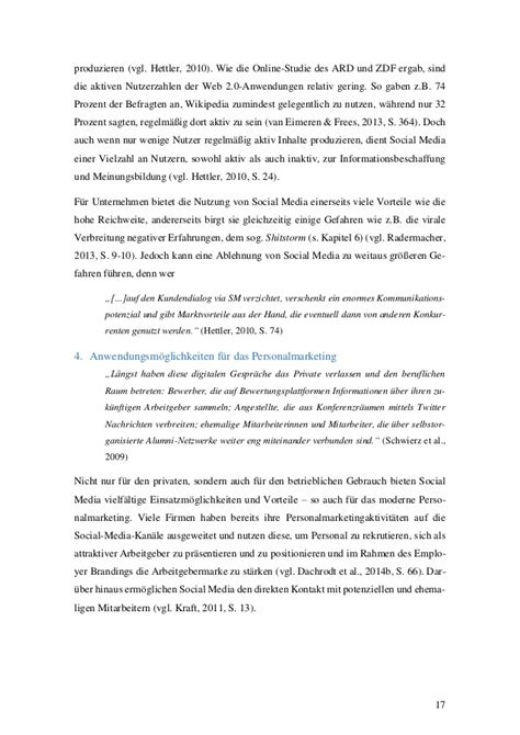 bachelor thesis social media recruiting bachelorarbeit social media im personalmarketing