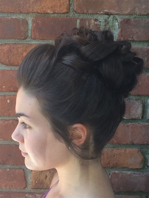 Formal Bun Hairstyles by Formal High Bun Updo Formal Styles Updos