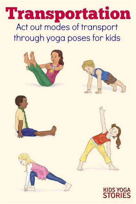 yoga for kids free printable poster collection transportation activities for kids yoga printable poster