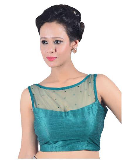 Jedar Blouse 2 N1 abida green net back blouse buy abida green net back