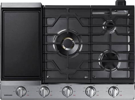 gas cooktop btu na30n7755ts samsung 30 quot gas cooktop 22k btu stainless