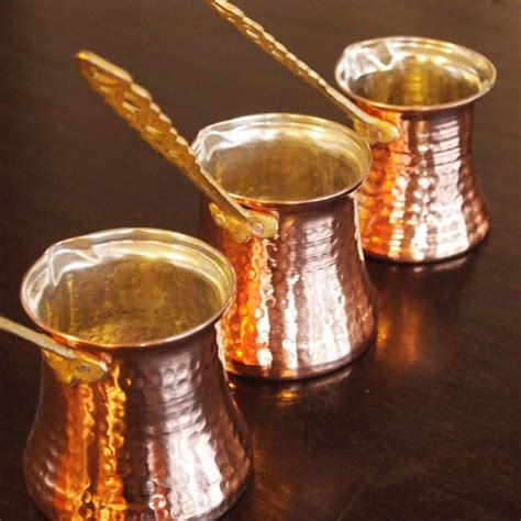 Handmade Copper Pots - handmade copper turkish coffee pot coppers
