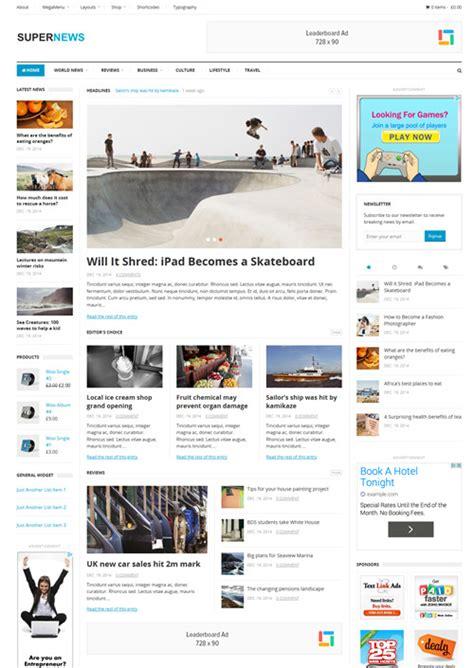 supernews theme junkie best newspaper wordpress themes best wordpress themes