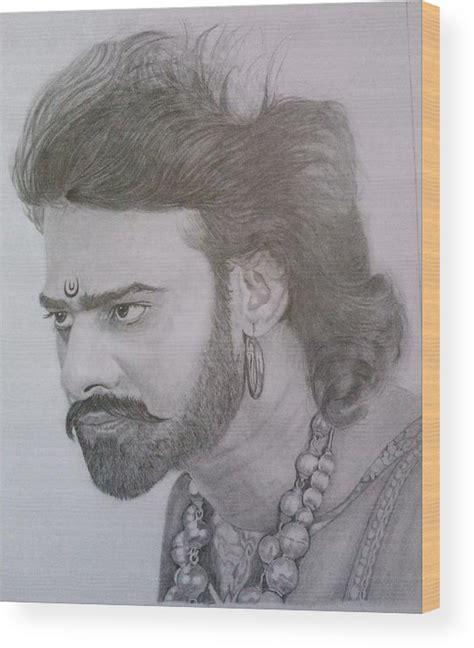 Bahubali 1 Sketches by Bahubali Sketch Wood Print By Rupesh Patel