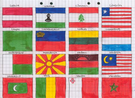 flags of the world to draw flags of the world 7 by zerawolf on deviantart