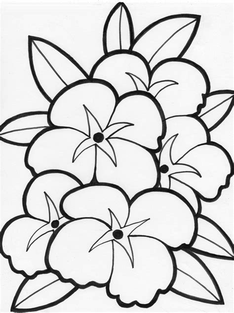flower leaf coloring page coloring pages of attractive flowers with leaves for kids