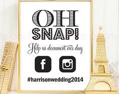 elegant oh snap printable social media wedding sign