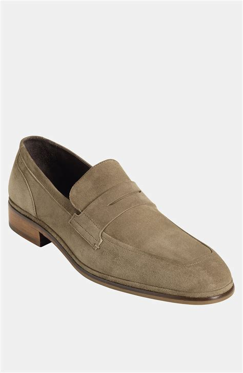 suede cole haan loafers cole haan air camden loafer in beige for