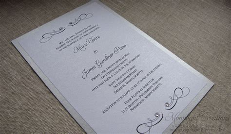 Silver Wedding Invitations by White And Silver Wedding Invitations Www Pixshark