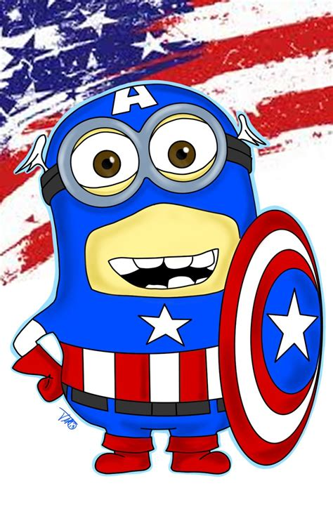 captain america minion wallpaper minion captain america by jamart2013 on deviantart