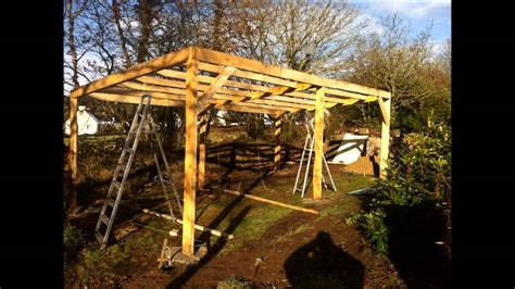 building  outdoor tractor shelter part  youtube