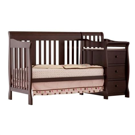 Crib And Mattress Combo 4 In 1 Crib Changer Combo In Espresso 04586 479