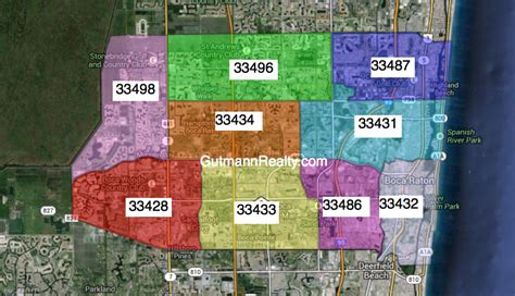 boca raton zip code map my